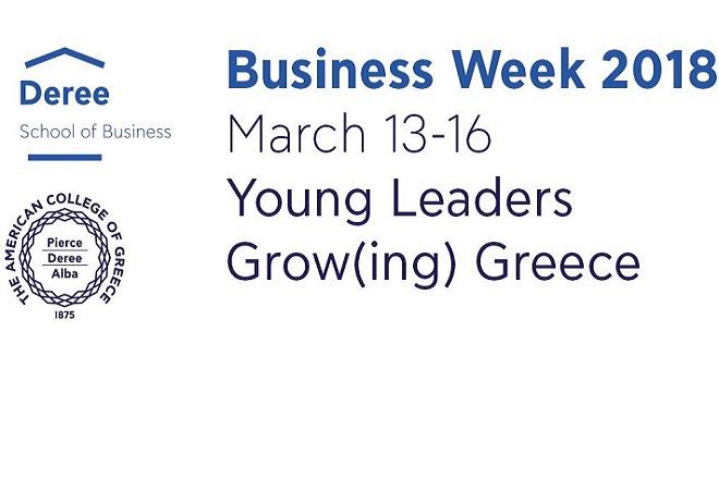 Business Week 2018 στο Deree: Young Leaders Grow(ing) Greece