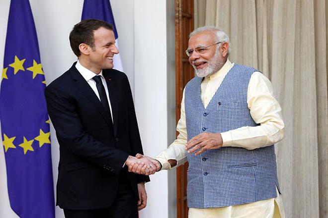 Συμφωνίες «μαμούθ» έφερε το ταξίδι του Εμανουέλ Μακρόν στην Ινδία