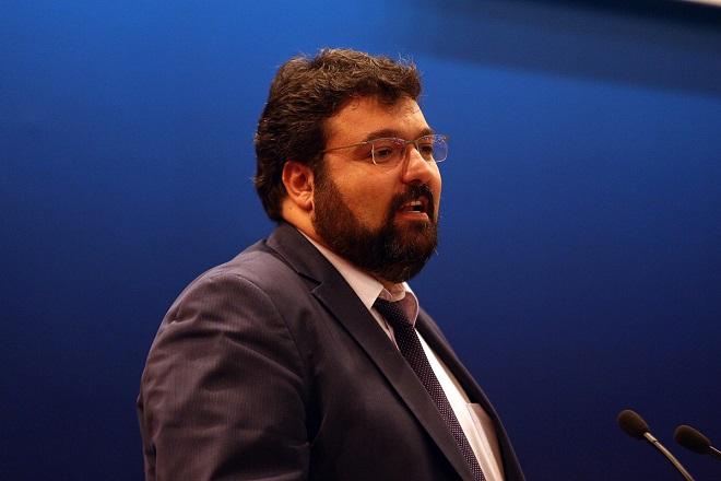 Ο γ.γρ. για την Καταπολέμηση της Διαφθοράς Γιώργος Βασιλειάδης  κατά την ομιλία του στην ημερίδα παρουσίασης του έργου της Γενικής Γραμματείας για την Καταπολέμηση της Διαφθοράς, Πέμπτη 21 Ιουλίου 2016. ΑΠΕ-ΜΠΕ/ΑΠΕ-ΜΠΕ/Αλέξανδρος Μπελτές