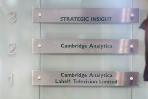 epa06615806 A general view of the sign on the offices of London-based political consulting firm Cambridge Analytica in London, Britain, 20 March 2018. Britain's Information Commissioner Elizabeth Denham has applied for a warrant to search the offices of Cambridge Analytica, which is accused of using the personal data of 50 million Facebook members for its own campaigns during the US presidential elections in 2016 and Brexit referendum.  EPA/FACUNDO ARRIZABALAGA