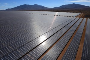 epa06307077 A handout photo made available by Acciona S.A. shows the El Romero photovoltaic solar plant in Vallenar, Chile, 03 November 2017. Chilean President Michelle Bachelet highlighted that the entry into operation of the El Romero photovoltaic plant, built by the Spanish multinational Acciona, will prevent the emission of 485,000 tons of carbon dioxide (CO2).  EPA/ACCIONA / HANDOUT  HANDOUT EDITORIAL USE ONLY/NO SALES
