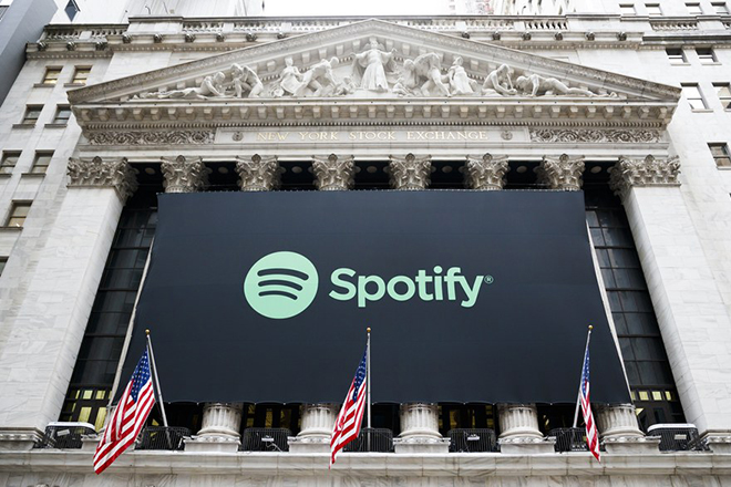 Στα 26,5 δισ. δολάρια έκλεισε η πρώτη μέρα της Spotify στο Χρηματιστήριο