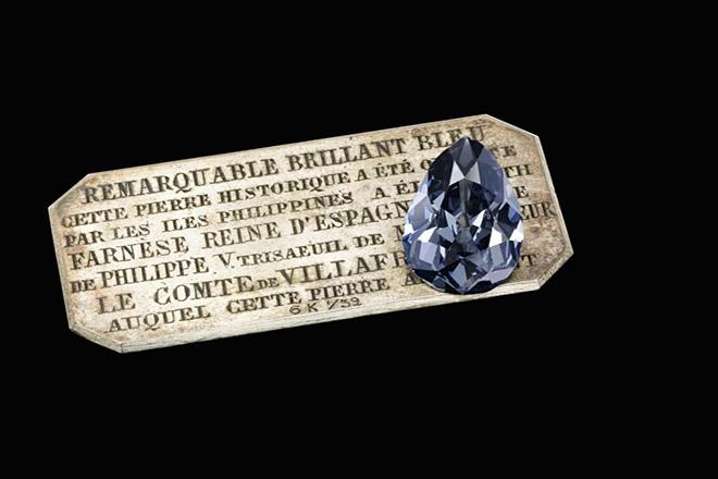 Ένα ιστορικό μπλε διαμάντι θα δημοπρατηθεί στον οίκο Sotheby's τον Μάιο