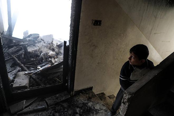Bombing on Douma