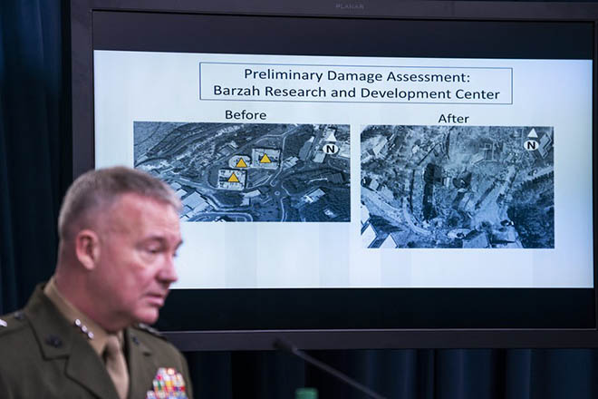Pentagon briefs the media on Syria strike