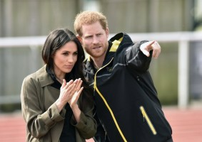 epaselect epa06649754 Britain's Prince Harry and Meghan Markle visit Bath University, in Bath, Britain, 06 April 2018, to view hopeful candidates for the UK Team Trial for the Invictus Games in Sydney in 2018. The couple will get married on 19 May.  EPA/Neil Munns