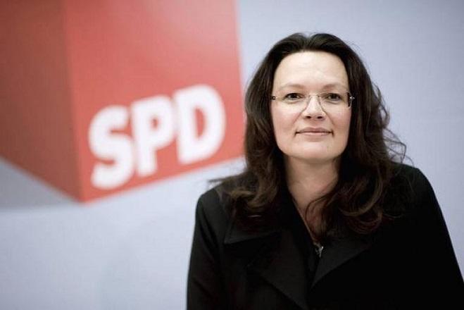 Πρόεδρος του SPD με ποσοστό 66,35% η Αντρέα Νάλες