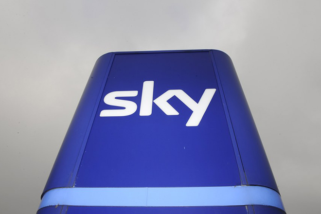 epa06568599 (FILE) - A file photo dated 03 March 2011 showing a company sign at the entrance to a Sky television building in Osterley, London, Britain (re-issued 27 February 2018). Reports on 27 February 2018 state Comcast has made a bid valued at 31 billion USD for Sky that provides various services from TV to internet connection to some 23 million clients in Europe..  EPA/FACUNDO ARRIZABALAGA *** Local Caption *** 02612666