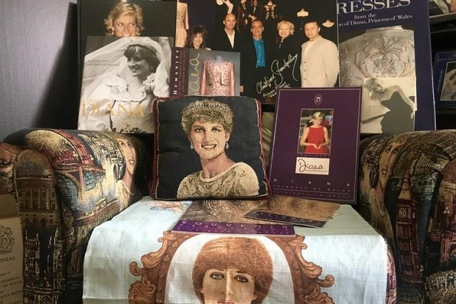 Royal family memorabilia of collector John Hoatson is shown at his home in Pompano Beach, Florida, U.S., April 21, 2018.  REUTERS/Zachary Fagenson