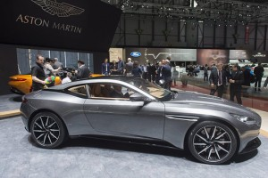epa05190404 The New Aston Martin DB11 is presented during the press day at the 86th Geneva International Motor Show in Geneva, Switzerland, 02 March 2016. The Motor Show will open its gates to the public from 03 to 13 March presenting more than 200 exhibitors and more than 120 world and European premieres.  EPA/SANDRO CAMPARDO