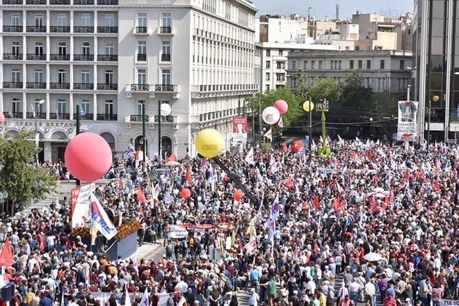 Ολοκληρώθηκαν τα συλλαλητήρια για την Εργατική Πρωτομαγιά