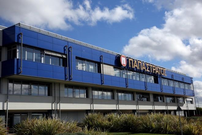 Το εργοστάσιο της καπνοβιομηχανίας Παπαστράτος στον Ασπρόπυργο Αττικής, Δευτέρα 27  Νοεμβρίου 2017. ΑΠΕ-ΜΠΕ/ΑΠΕ-ΜΠΕ/ΟΡΕΣΤΗΣ ΠΑΝΑΓΙΩΤΟΥ