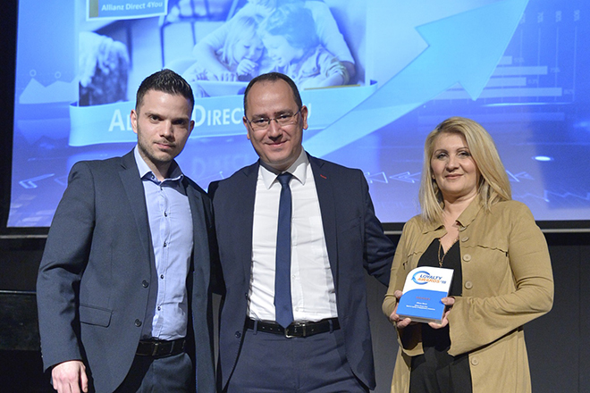 Βραβείο για την Allianz Direct στα Loyalty Awards 2018