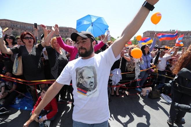 Opposition rally in Armenia