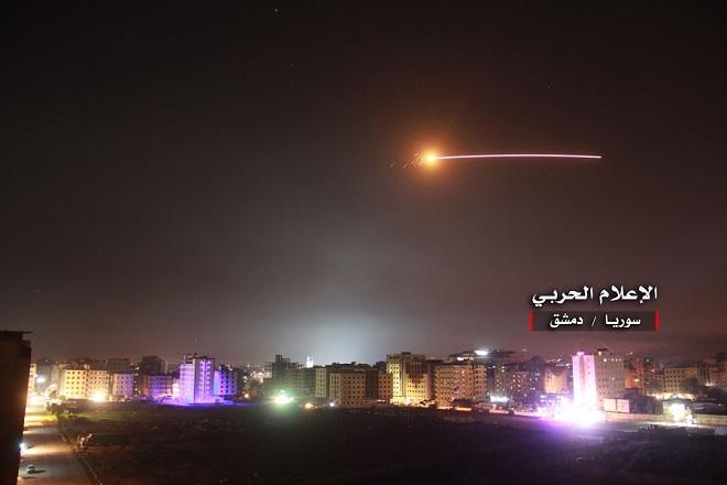 Syria claims intercepting Israeli missiles near Damascus