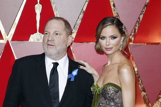 epa06266290 (FILE) - US designer Georgina Chapman (R) and her husband Harvey Weinstein (L) arrive for the 89th annual Academy Awards ceremony at the Dolby Theatre in Hollywood, California, USA, 26 February 2017. According to media reports on 14 October 2017, Harvey Weinstein was expelled from the Oscars Academy over sexual harassment allegations.  EPA/PAUL BUCK