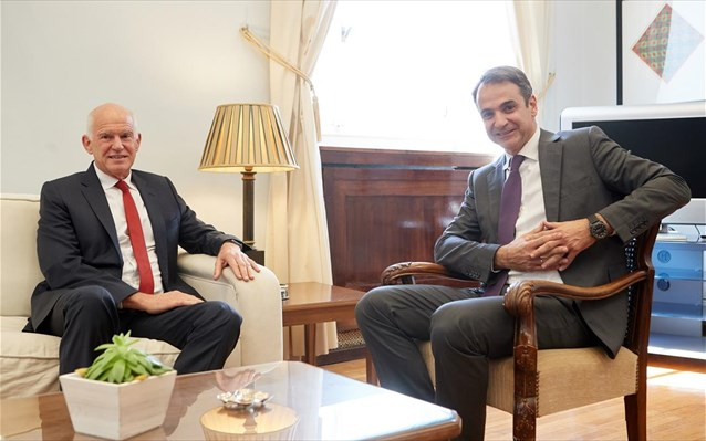 Σοβαρές επιφυλάξεις για τις επιλογές Τσίπρα εξέφρασε ο Κ. Μητσοτάκης στον Γ. Παπανδρέου