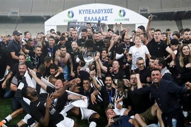 Κυπελλούχος Ελλάδας ο ΠΑΟΚ που νίκησε με σκορ 2-0 στον τελικό με την ΑΕΚ