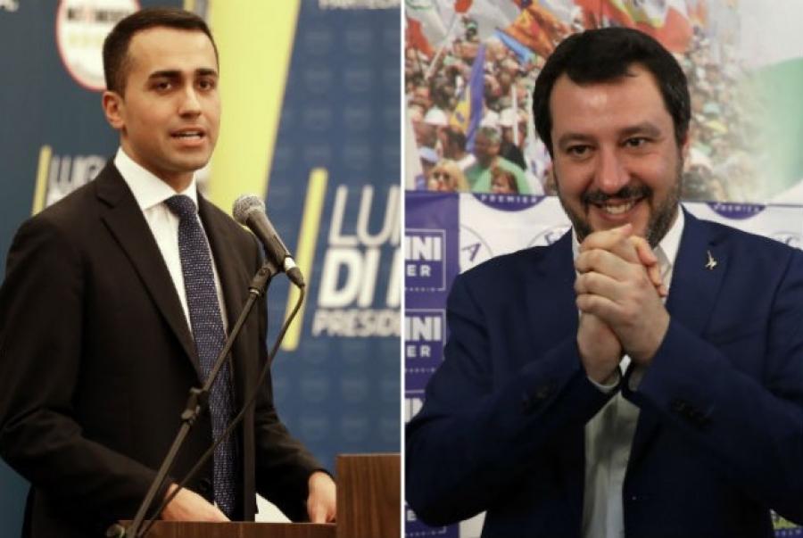 Τα «βρήκανε» Λέγκα-Κίνημα Πέντε Αστέρων στην Ιταλία: Συμφωνία για κυβερνητική ομάδα-πρωθυπουργό