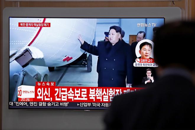 Η Βόρεια Κορέα ανατίναξε το υπόγειο πεδίο πυρηνικών δοκιμών της