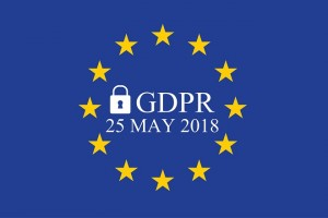 General Data Protection Regulation (GDPR) on european union flag