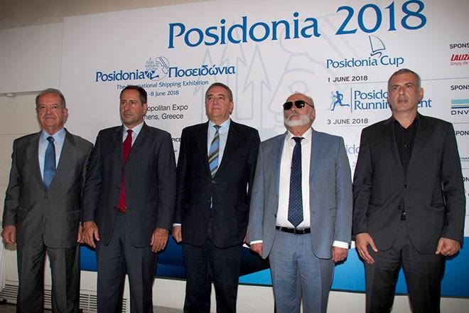 Ο υπουργός Ναυτιλίας και Νησιωτικής Πολιτικής Παναγιώτης Κουρουμπλής και ο δήμαρχος Πειραιά Γιάννης Μόραλης κατά τη διάρκεια της συνέντευξης τύπου για το διεθνές ναυτιλιακό φόρουμ Ποσειδώνια 2018, την Πέμπτη 31 Μαΐου 2018. Η έκθεση οργανώνεται από τις 4 ως τις 8 Ιουνίου στο εκθεσιακό κέντρο Athens Metropolitan Expo του αεροδρομίου Ελ. Βενιζέλος, με τη συμμετοχή 1.920 εκθετών από 92 χώρες και αύξηση 6% του εκθεσιακού χώρου που θα καταλάβουν οι συμμετέχοντες. . ΑΠΕ- ΜΠΕ/ΑΠΕ- ΜΠΕ/Γεώργιος Χριστάκης