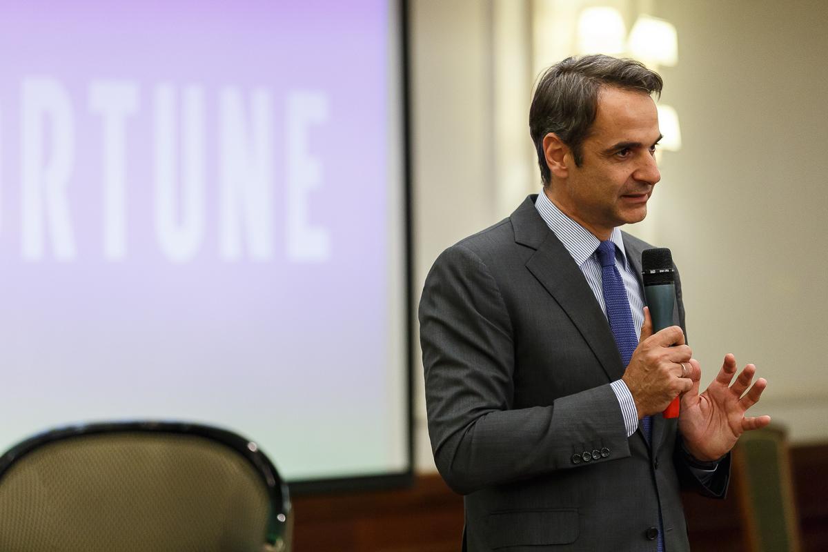 Κυριάκος Μητσοτάκης στην εκδήλωση του Fortune 40 under 40: Χρειάζεται συνολική παρέμβαση σε φόρους και εισφορές