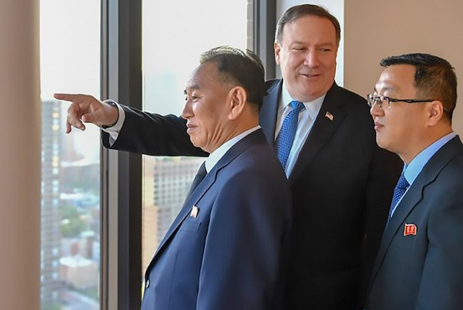 Συνομιλίες Πομπέο με τον Βορειοκορεάτη απεσταλμένο Κιμ Γιονγκ Τσολ