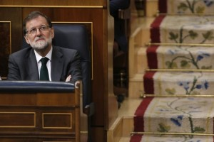 epa06777416 Spanish Prime Minister, Mariano Rajoy, looks on the second day of the no-confidence motion debate against him at the Lower House in the Spanish Parliament in Madrid, Spain, 01 June 2018. Leader of Spanish Workers' Socialist Party (PSOE), Pedro Sanchez, has won the vote to unseat Rajoy as Prime Minister in the first successful no-confidence vote in the Spanish democracy with 180 'yes' votes of PSOE, Unided Podemos, PNV, ERC, PDeCAT, Compromis, EH-Bildu, and Nueva Canarias. Now, Sanchez will become the seventh Prime Minister of the Spanish democracy after being sworn-in by King Felipe VI in ceremony to be held in the upcoming days.  EPA/JAVIER LIZON