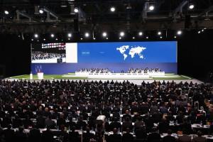 epa06804482 Delegates take part in the 68th FIFA Congress in Moscow, Russia, 13 June 2018.  EPA/FELIPE TRUEBA