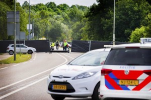 epa06817941 Dutch police has sealed off the site after a van reportedly run into a group of cocert goers at a festival in Landgraaf, The Netherlands, 18 June 2018. It was reported that at least one person was killed and three others injured in the crash before the driver in the van was fleeing the scene. Police in the Dutch Limburg province are reportedly still looking for the white van. The pre-dawn crash happened early 18 June near a camping site close to the famous Pinkpop festival in Landgraaf. The three-days concert festival, which ended late 17 June with a performance of US artist Bruno Mars, is usually attended by tens of thousands of visitors.  EPA/PIROSCHKA VAN DE WOUW