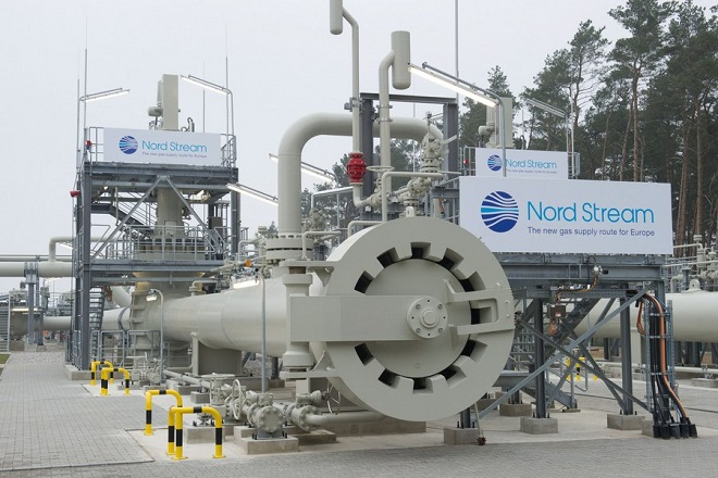 epa06031689 (FILE) - The logo of the company Nord Stream is fixed to the landing station of the Baltic Sea pipeline Nord Stream in Lubmin near Greifswald, Germany, 08 November 2011, (reissued 16 June 2017). Media reports on 16 June 2017 state that German and Austrian companies who are investing in the Russia Nord Stream 2 pipeline to the EU are going to be hit hard if the US bill extending sanctions Russia's aggression in Ukraine goes into law. German Foreign Minister Sigmar Gabriel and Austrian Chancellor Christian Kern in a joint statement said, Europe's energy supplies were 'a matter for Europe, not for the United States.'  EPA/STEFAN SAUER  GERMANY OUT *** Local Caption *** 50107549