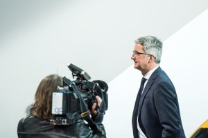 epa06800152 (FILE) - CEO of Audi AG, Rupert Stadler arrives for the balance seet press conference at the company's headquarters in Ingolstadt, Germany, 15 March 2017 (reissued 11 June 2018). According to reports, public prosecutors on 11 June 2018 raided the home of Audi CEO Rupert Stadler to gather evidence in the Diesel emission scandal. Stadler is suspected of fraud and denies any wrongdoing.  EPA/CHRISTIAN BRUNA *** Local Caption *** 53388734