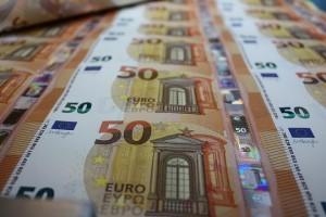 Φωτογραφία που δόθηκε σήμετα στη δημοσιότητα και εικονίζει το νέο τραπεζογραμμάτιο των 50 ευρώ. Μένει λιγότερο από ένας μήνας για την κυκλοφορία του νέου τραπεζογραμματίου των 50 Ευρώ στις 4 Απριλίου 2017. Πέμπτη 9 Μαρτίου 2017.  ΑΠΕ-ΜΠΕ/Τράπεζα της Ελλάδος/STR