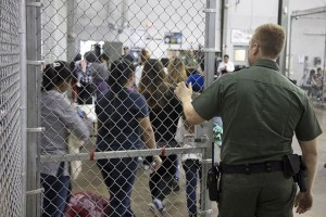 epa06819207 An undated handout photo made available on 18 June 2018 by the US Customs and Border Patrol showing people inside a United States Border Patrol Processing Center, in McAllen, Texas, USA.  Media reports on 18 June 2018 state that Laura Bush had called the current zero-tolerance immigration policy by the administration of US President Donald J. Trump that sees children being separated from their parents when they illegally enter the USA as 'cruel', while the US President's wife Melania Trump was quoted as saying that she 'hates to see' children being separated from their families as a reaction to the immigration policy being executed at the US-Mexico border.  EPA/US CUSTOMS AND BORDER PATROL / HANDOUT  HANDOUT EDITORIAL USE ONLY/NO SALES