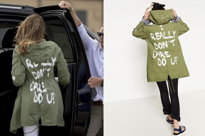 melania trump jacket zara μελανια τραμπ Sky News