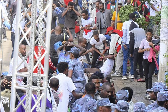 Αιθιοπία: 83 τραυματίες αλλά κανένας νεκρός από έκρηξη σε πολιτική συγκέντρωση του πρωθυπουργού