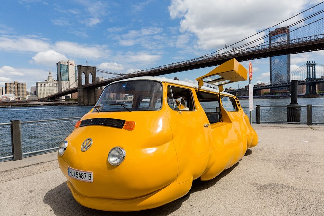 erwin wurm hot dog bus by liz ligon courtesy public art fund NY