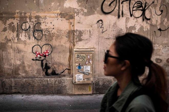 Paris Banksy AFP
