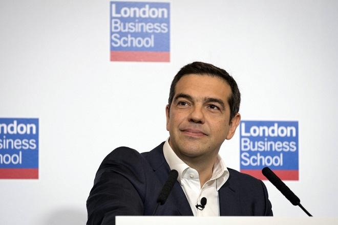 Τσίπρας στο London Business School: Οι φωτεινότερες μέρες είναι μπροστά μας