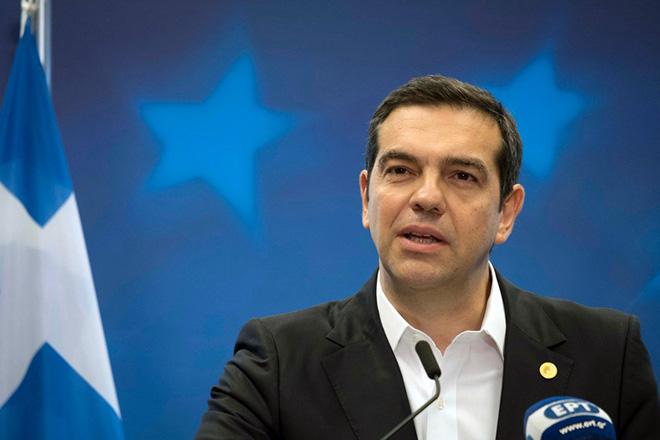 (Ξένη Δημοσίευση) Ο πρωθυπουργός Αλέξης Τσίπρας μιλάει κατά την διάρκεια της συνέντευξης Τύπου μετά τη Σύνοδο Κορυφής στις Βρυξέλλες, την Παρασκευή 29 Ιουνίου 2018.  ΑΠΕ-ΜΠΕ/ΓΡΑΦΕΙΟ ΤΥΠΟΥ ΠΡΩΘΥΠΟΥΡΓΟΥ/Andrea Bonetti