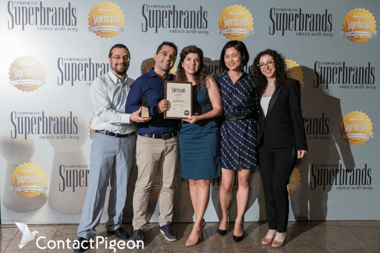 Διάκριση στον διαγωνισμό Superbrands για την ContactPigeon