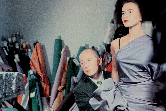 Christian Dior with model Sylvie, circa 1948. Courtesy of Christian Dior.