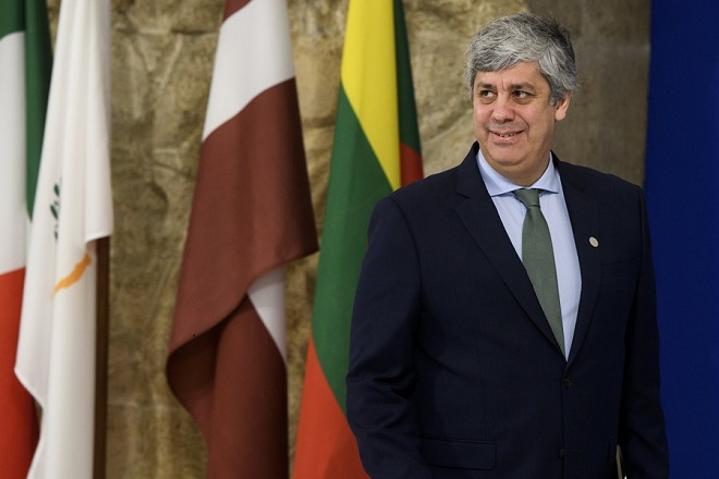 epa06696043 Eurogroup President Mario Centeno arrives for the European Union's (EU) informal meeting of the economic and financial affairs ministers (ECOFIN) at the National Palace of Culture in Sofia, Bulgaria, 27 April 2018. Bulgaria took over its first Presidency of the European Council from January 2018 until June 2018.  EPA/VASSIL DONEV