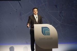 Ο διευθύνων σύμβουλος της Eurobank Ergasias Φωκίων Καραβίας μιλάει κατά τη διάρκεια της τελετής βράβευσης του 2ου διαγωνισμού Ανάπτυξης και Ανταγωνιστικότητας (Growth Awards) της Eurobank Ergasias με την Grant Thornton στο Μέγαρο Μουσικής, την Τρίτη 6 Φεβρουαρίου 2018. ΑΠΕ ΜΠΕ/ΑΠΕ ΜΠΕ/ΑΛΕΞΑΝΔΡΟΣ ΒΛΑΧΟΣ