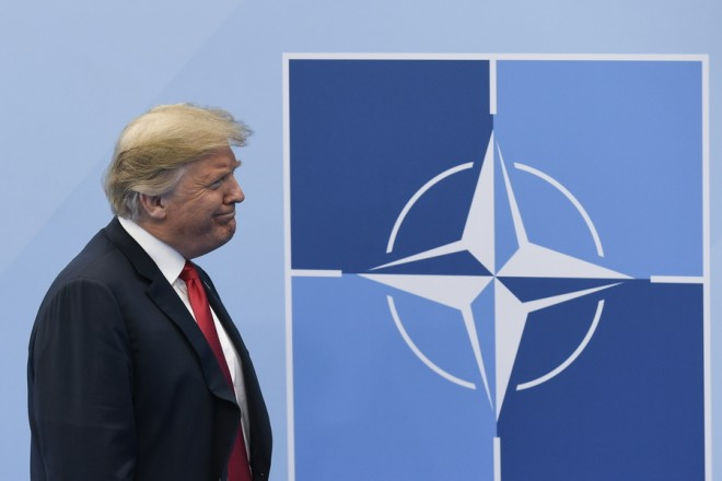 epa06882280 QUALITY REPEAT for image epa06880291   US President Donald J. Trump arrives for a NATO Summit in Brussels, Belgium, 11 July 2018. NATO countries' heads of states and governments gather in Brussels for a two-day meeting.  EPA/CHRISTIAN BRUNA
