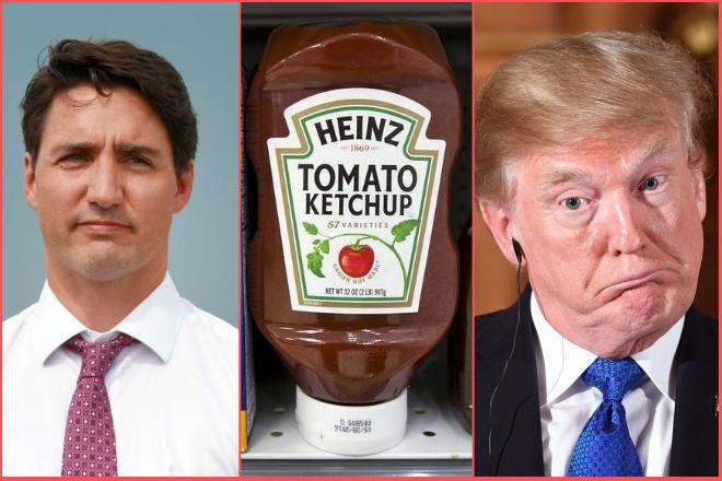 Ο πόλεμος μεταξύ ΗΠΑ-Καναδά και το…κέτσαπ