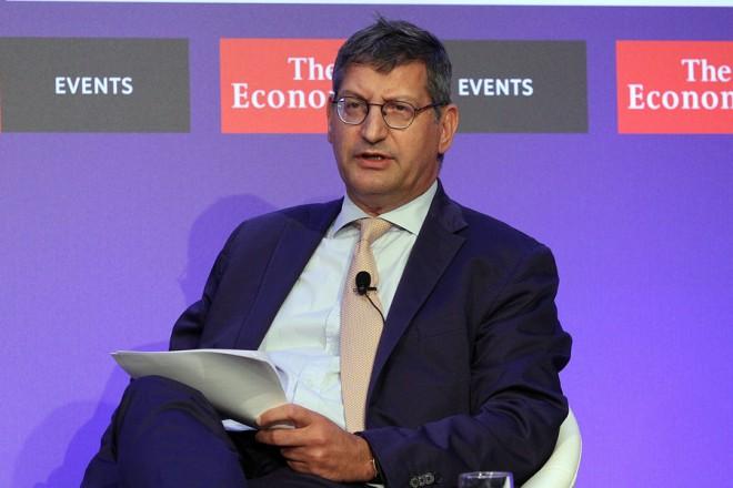 Ο αναπληρωτής διευθύνων σύμβουλος της Εθνικής Τράπεζας Παύλος Μυλωνάς μιλάει στο Συνέδριο του Economist, που γίνεται στο Λαγονήσι, Πέμπτη 14 Ιουνίου 2018. ΑΠΕ-ΜΠΕ/hazliseconomist/ΣΤΑΥΡΟΣ ΓΙΑΝΝΟΥΛΗΣ