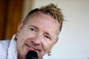 epa05287215 British musician and former lead singer of the band Sex Pistols, John Lydon aka Johnny Rotten, attends a press conference in San Sebastian, Spain, 02 May 2016, to announce the tour start of his band Public Image Ltd on 04 May.  EPA/JUAN HERRERO