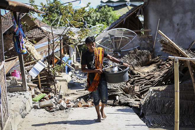 Earthquake aftermath in Lombok